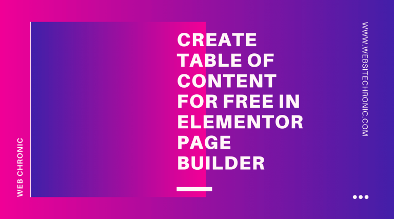 How to Create a Table of Content in Elementor | Simple & Easy | 2020