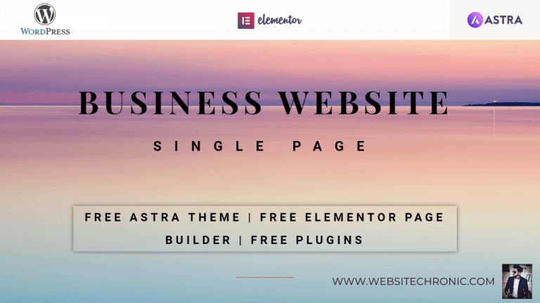 Create A Single Page Professional Business Website, Email ID, Yoast SEO | Step By Step for Beginners
