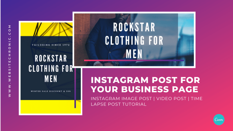 Create Instagram Post – Image, Video & Time Lapse Posts With Text For Your Business Marketing | 2020
