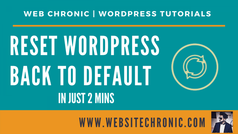 How To Reset WordPress To Default – Reset WordPress Website | WP Reset Tutorial | 2020